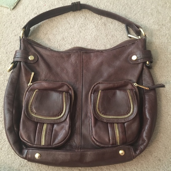 b. makowsky Handbags - B. Makowsky Brown Leather Bag w Gold Hardware 2c10fc8ca7